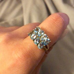 Vintage Light Blue Stone Ring